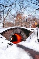 New York City Central Park di Manhattan in inverno foto
