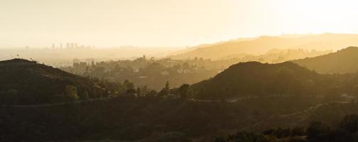 panorama delle colline di hollywood foto