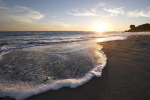 tramonto di Malibu foto