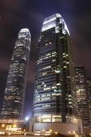 vista notturna, hong kong foto