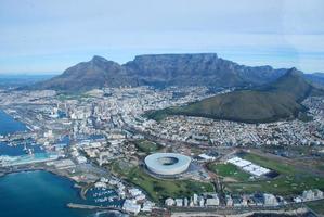 ripresa aerea di Città del Capo foto