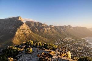 table mountain - città del capo, sud africa foto