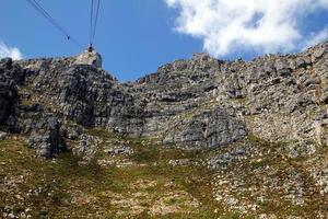 vista dalla montagna della tabella, Sudafrica foto