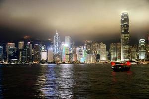 skyline di hong kong foto