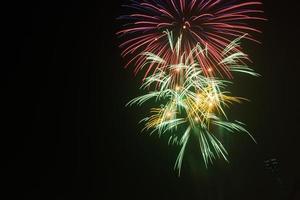 fuochi d'artificio 60 ° anniversario della sua giornata di liberazione ad Hanoi