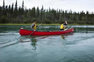 gita in canoa. foto