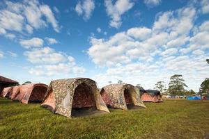 tenda da campeggio al parco nazionale