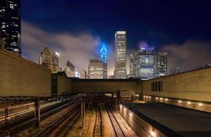 nebbia notturna di Chicago foto