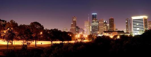 panorama notturno di Houston foto
