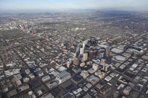 Dowtown Phoenix nella vista aerea dell'Arizona foto