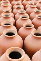 vasi in terracotta, fiera dell'artigianato indiano a kolkata