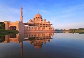 Moschea Putra a Putrajaya, Malesia foto