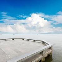 vista sull'incantevole lago ovest, Hangzhou, Cina foto