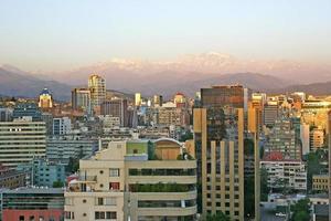 santiago, tetti del Cile foto