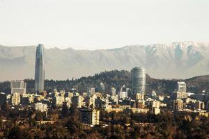 skyline di santiago Cile foto