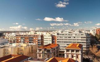 paesaggio urbano di Madrid foto