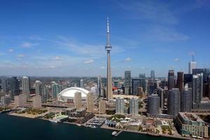 Toronto in centro, veduta aerea foto