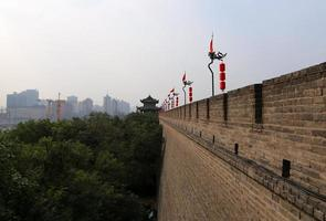 fortificazioni di xian (sian, xi'an) un'antica capitale della Cina foto