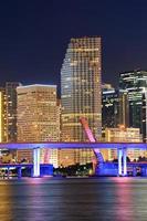 scena notturna di Miami foto