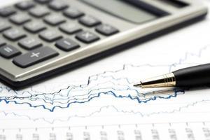 contabilità finanziaria dei grafici di borsa foto