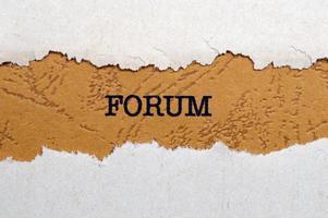 concetto di forum foto