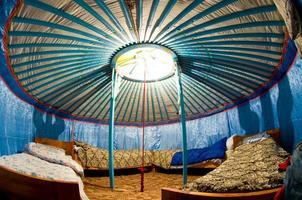 interno yurta foto