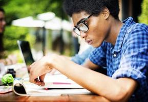 educazione universitaria comunicazione pianificazione studiando concetto foto