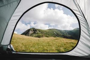 vista dalla tenda foto
