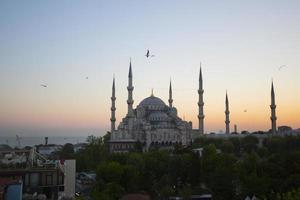 moschea blu e hagia sophia foto