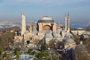 vista aerea del bellissimo museo di hagia sophia foto