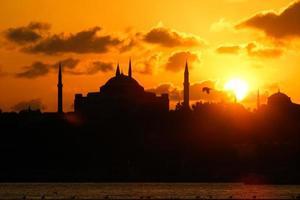 sagoma della città di istanbul bosforo foto