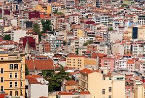 vista dalla torre di galata a istanbul, turchia foto