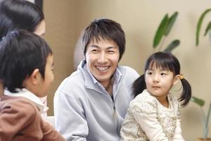 famiglia sorridente foto