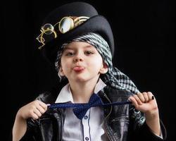 steampunk del primo piano del bambino foto