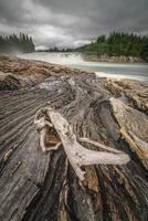 cascata laksfossen in Norvegia foto