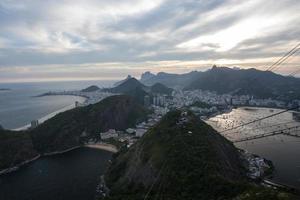 vista dal monte sugarloaf, rio de janeiro, brasile foto
