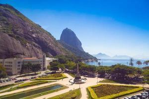 Rio de Janeiro, vista dalla montagna di Sugarloaf Brasile foto