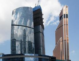 grattacieli del centro d'affari internazionale (città), mosca, russia foto