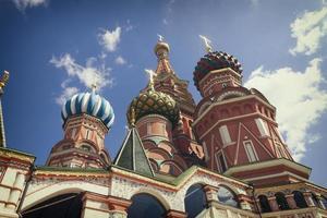 la più famosa cattedrale russa sulla piazza rossa foto