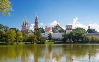 convento di novodevichy a Mosca foto