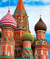cattedrale di vasamente benedetto a Mosca foto