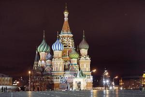 st. Cattedrale del basilico, Cremlino di Mosca, notte foto