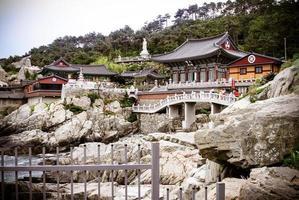 Tempio buddista di Haedong yonggungsa, Busan, Corea del Sud foto