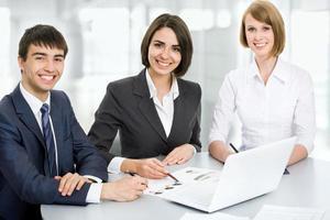 giovani imprenditori. lavoro di squadra. foto