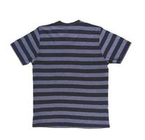 t-shirt a righe da uomo con tracciato di ritaglio. indietro.
