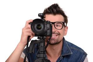 fotografo al lavoro foto