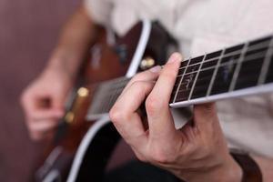 corde della chitarra foto