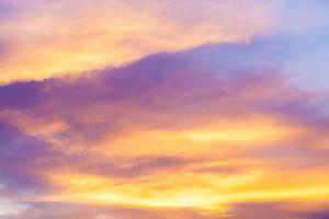 sfondo del cielo al tramonto. foto