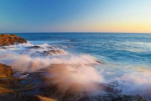 tramonto della spiaggia di laguna