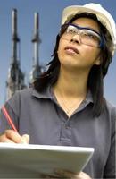 ingegnere / ispettore femminile foto